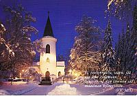 The winter scene of Seinäjoki church